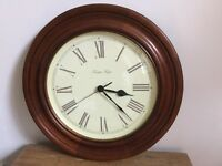 Wood effect wall clock