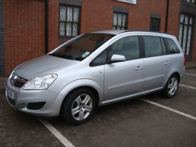 2009 Petrol Zafira, 7seater, MOT until end of October, Low Mileage, Full Service History.