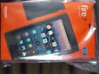 "Brand New Amazon Fire 7 Tablet with Alexa, Quad-core, Wi-Fi, 8GB, 7"", Marine Blue"
