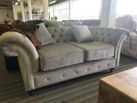 Chesterfield handmade sofa grey 3 seater