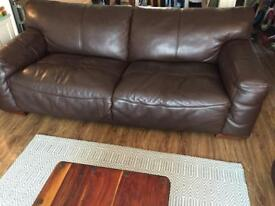 Stylish dark brown quality leather Sofa