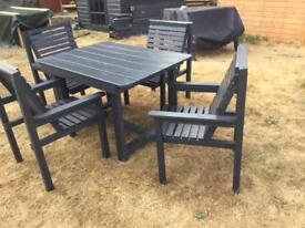 Garden table with four chairs