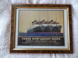 Three New Luxury Ships Print