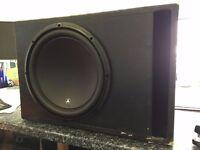 QUALITY SUBWOOFER AND AMP FOR SALE JL AUDIO W3 V3-4 13.5 INCH - HIFONICS BRUTUS 600WATT