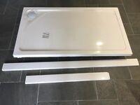 JT Fusion 1400 x 800 Shower Tray inc 90mm waste. C/W Riser Kit
