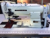 Seiko Twin Needle Walking foot heavy Duty sewing machine FOR UPHOLSTERY, CANVAS