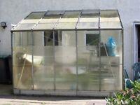 aluminium lean to greenhouse