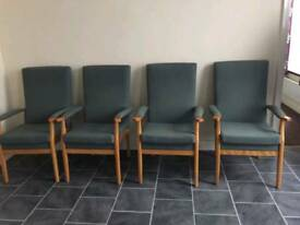 Highbacked chairs