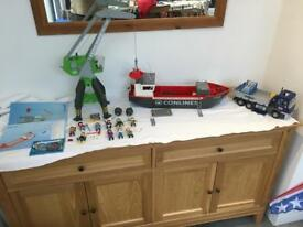 Playmobil container ship and crane set