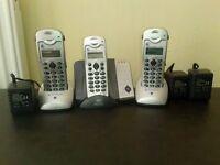 3 Handset Digital CORDLESSS Home phones, Phone book, Ans phone,