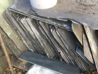 Reclaimed slate roof tiles