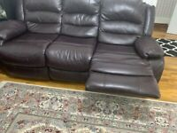 Set of 2 leather sofas to go ASAP