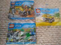 Lego City 30312 digger + Lego City 30313 road sweeper + Lego Creator 30283 NEW Will post