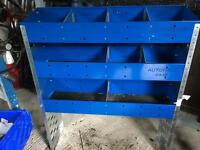 Auto rack van shelving (two available)