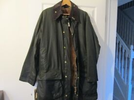 BARBOUR BORDER JACKET SIZE C42 / 107 AS NEW WITHOUT TAGS,SAGE GREEN