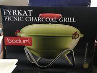 Bodum Fyrkat charcoal picnic barbecue grill
