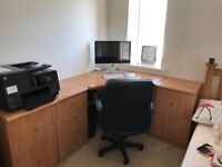 Office desk and draws in great condition,collection only from crossways near Dorchester