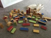 ELC wooden blocks in bag