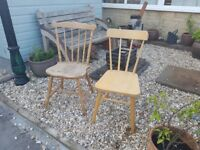 x2 wooden chairs ideal for painting .very solid