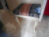 Vintage bed room dressing table stool