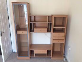 Wooden living room unit