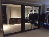 160cm Sliding Door Wardrobe in Black - new