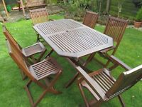 GARDEN TABLE AND 6 CHAIRS ONLY £75