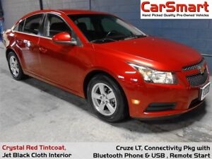 2012 Chevrolet Cruze LT Turbo, Bluetooth, Alloy Wheels, Accident