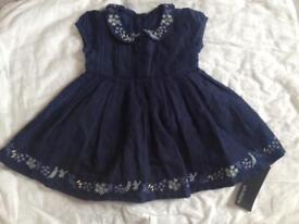 Baby girl dress, 0-3 months, new