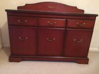 Solid Yew wood sideboard. 1970s manufactured unit in fantastic condition. Will need collecting
