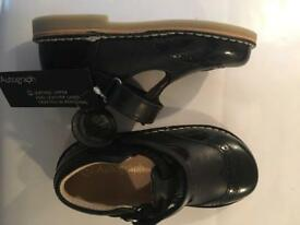 Girls black leather shoes size 9 ( new with tags)