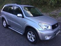 54 Reg Toyota Rav 4 XTR 2.0 VVTi Manual 5 Door Metallic Silver, New MOT, done 119,000 miles