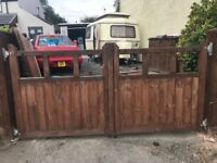 Wooden Drive Gates 8ft by 4ft