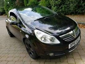 Vauxhall Corsa SXi, 1.2 petrol, Manual, 2010 in black with 11 months MOT!!!