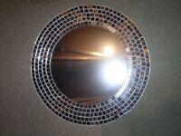 silver/chrome mosaic mirror