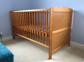 Cot bed with brand new unused mattress