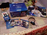 Playstation 4 slim/ VR pack/ motion controls pack/CAMERA/headset/games