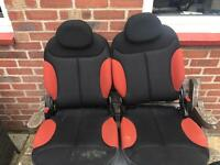 Citroen c2 orange seats