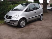 2001 Mercedes A140 Classic 5 door hatch,very low mileage and in great condition