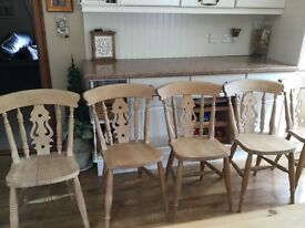 Solid Pine Farmhouse Chairs