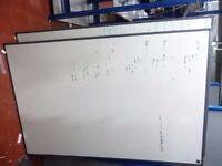 Dry Wipe Whiteboard White Notice Memo Board Office Meeting School Home Medium Size (90x120) RRP £50