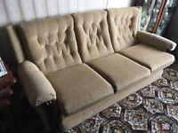 3+1+1 Sofa Suite - Cream/Gold