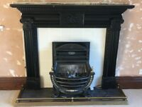 Wooden Fire Surround with Gas Fire