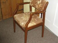 Pair armchairs.