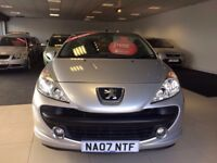 2007 PEUGEOT 207 CC 1.6 16v SPORT 2DR LOW MILEAGE LOVELY CONVERTIBLE