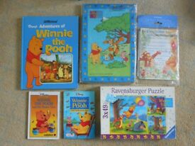 Winnie the Pooh books, Jigsaws and party invitations