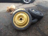 Space saver wheels