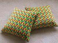 2 x bright cushions