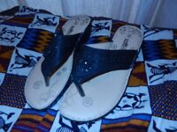 Open toe summer pumps -size 8 but fits size 7