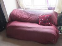 Double bed, Sofa bed, futon, couch. Sturdy metal frame and mattress for sale